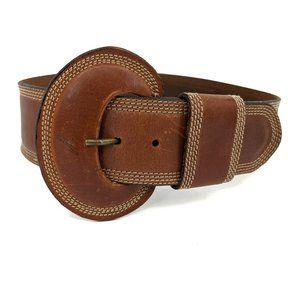 Escada LAUREL Vintage Cognac Leather Belt Sz 38